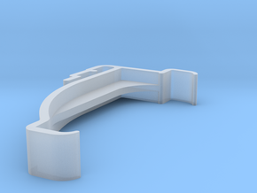 Blind Valance Clip 00176 in Smooth Fine Detail Plastic