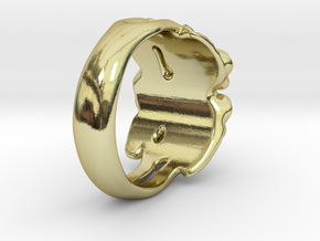 Rose Ring. in 18k Gold Plated Brass: 7 / 54
