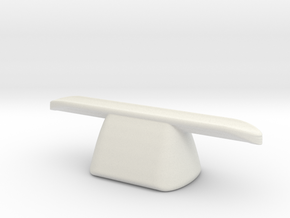 pen rest The Nibopedic solid (ceramic) in White Natural Versatile Plastic