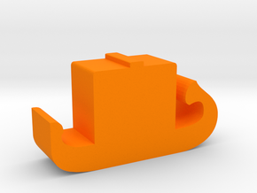 Game Piece, Ancient Egyptian Galley in Orange Processed Versatile Plastic