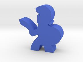 Game Piece, Greek Soldier, Sword in Blue Processed Versatile Plastic