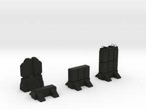 Wall Pack - 1  in Black Natural Versatile Plastic