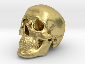 Skull Scientific 44 mm in Natural Brass