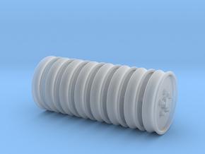 wielen 8x in Smooth Fine Detail Plastic