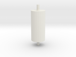 PONTOON ROLLER in White Natural Versatile Plastic