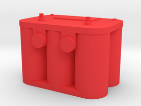 New Style Car Battery 1/10 scale in Red Processed Versatile Plastic