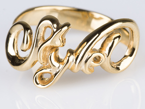 Style Ring. in 18k Gold Plated Brass: 8 / 56.75
