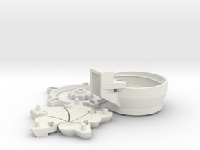 Seed dispenser for Drones in White Natural Versatile Plastic