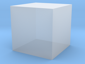 3D printed Sample Model Cube 1cm in Smooth Fine Detail Plastic