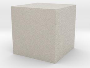 3D printed Sample Model Cube 1cm in Natural Sandstone