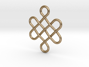 Celtic Design in Polished Gold Steel