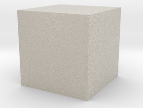 3D printed Sample Model Cube 0.5cm in Natural Sandstone