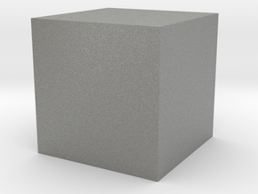 3D printed Sample Model Cube 0.5cm in Gray Professional Plastic