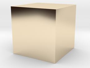 3D printed Sample Model Cube 0.25cm in 14K Yellow Gold