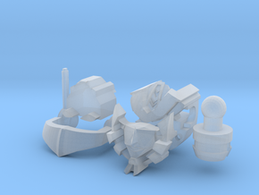 Nautical femmebot head scaled for Legends Wheelie in Smoothest Fine Detail Plastic