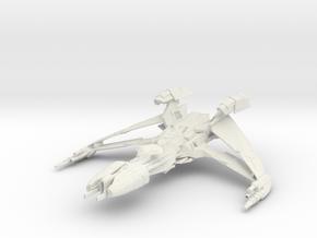 Klingon Vor'tar Class WarDestroyer in White Natural Versatile Plastic
