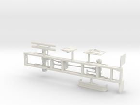 1/50th Oshkosh single axle 4x4 truck frame chassis in White Natural Versatile Plastic