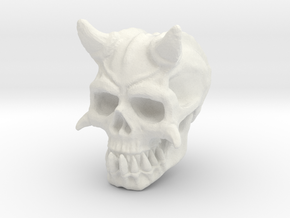 Demon Skull V1 in White Natural Versatile Plastic