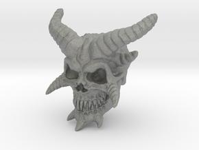Demon Skull v2  in Gray PA12