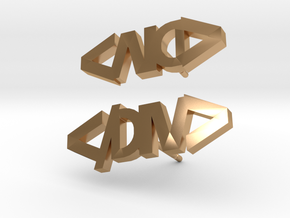 DIV Tag Earrings in Polished Bronze