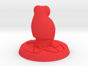 Baboon Miniature (28mm Scale) in Red Processed Versatile Plastic