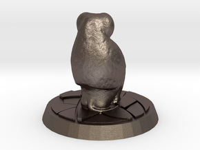 Baboon Miniature (28mm Scale) in Polished Bronzed-Silver Steel