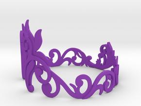 Bracelet in Purple Processed Versatile Plastic: Medium