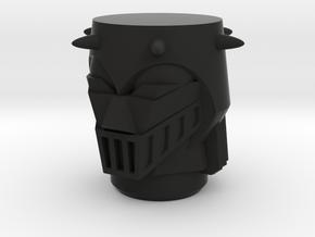 Baron Karza Head in Black Natural Versatile Plastic