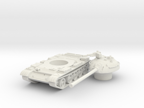 T 54 tank scale 1/87 in White Natural Versatile Plastic