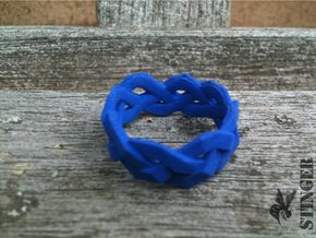Braided Polygon Ring Size 7 in Blue Strong & Flexible Polished