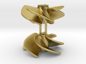 FCS 2610 propeller (2pcs) in Natural Brass