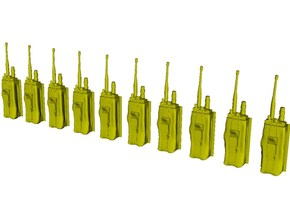 1/48 scale military radio pouches MOLLE x 10 in Smoothest Fine Detail Plastic