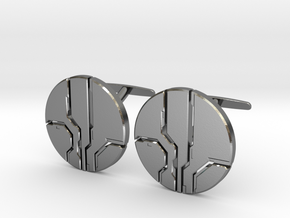 Eld Cufflinks (cast) in Polished Silver