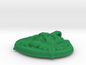 Green man Pendant 43mm in Green Processed Versatile Plastic