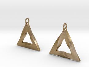 PGEB Earrings in Polished Gold Steel