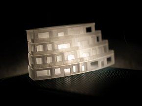 The Bivalve 1:500 Architectural Model in Smooth Fine Detail Plastic