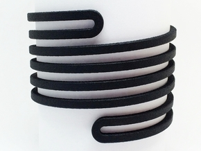 Banded Wrap Bracelet in Black Natural Versatile Plastic