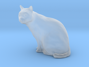 1/18 Sitting Cat in Smooth Fine Detail Plastic