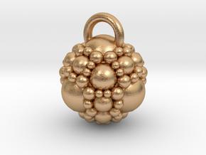 Fractal sphere pendant in Natural Bronze