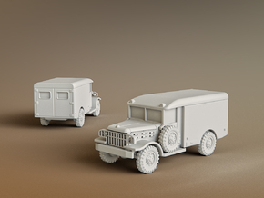 M43 Ambulance Scale: 1:100 in Smooth Fine Detail Plastic