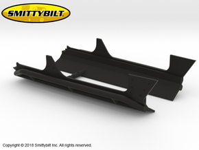AJ10047 Smittybilt XRC body cladding & Rockslider in Black Natural Versatile Plastic