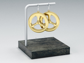 Road 3 Spoke in 14k Gold Plated Brass