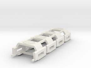 HWP SL2-BW1 Chassis MegaG BodyClips 4-Pack in White Natural Versatile Plastic