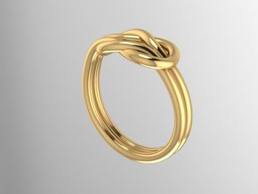 Knot Midi Ring in 14K Gold