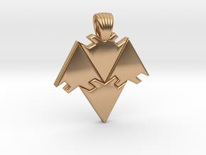 Arrows tiling [pendant] in Polished Bronze