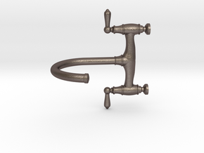 1:12 Traditional Bridge Faucet  in Polished Bronzed-Silver Steel