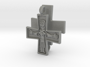 Virgin Mary Cross pair in Gray Professional Plastic