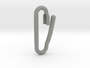 Safety Pin Link Lock in Gray PA12: Extra Small