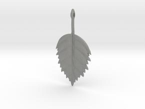 Birch Leaf Pendant in Gray PA12