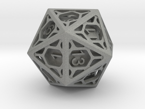 D20 Balanced - Cage die in Gray PA12